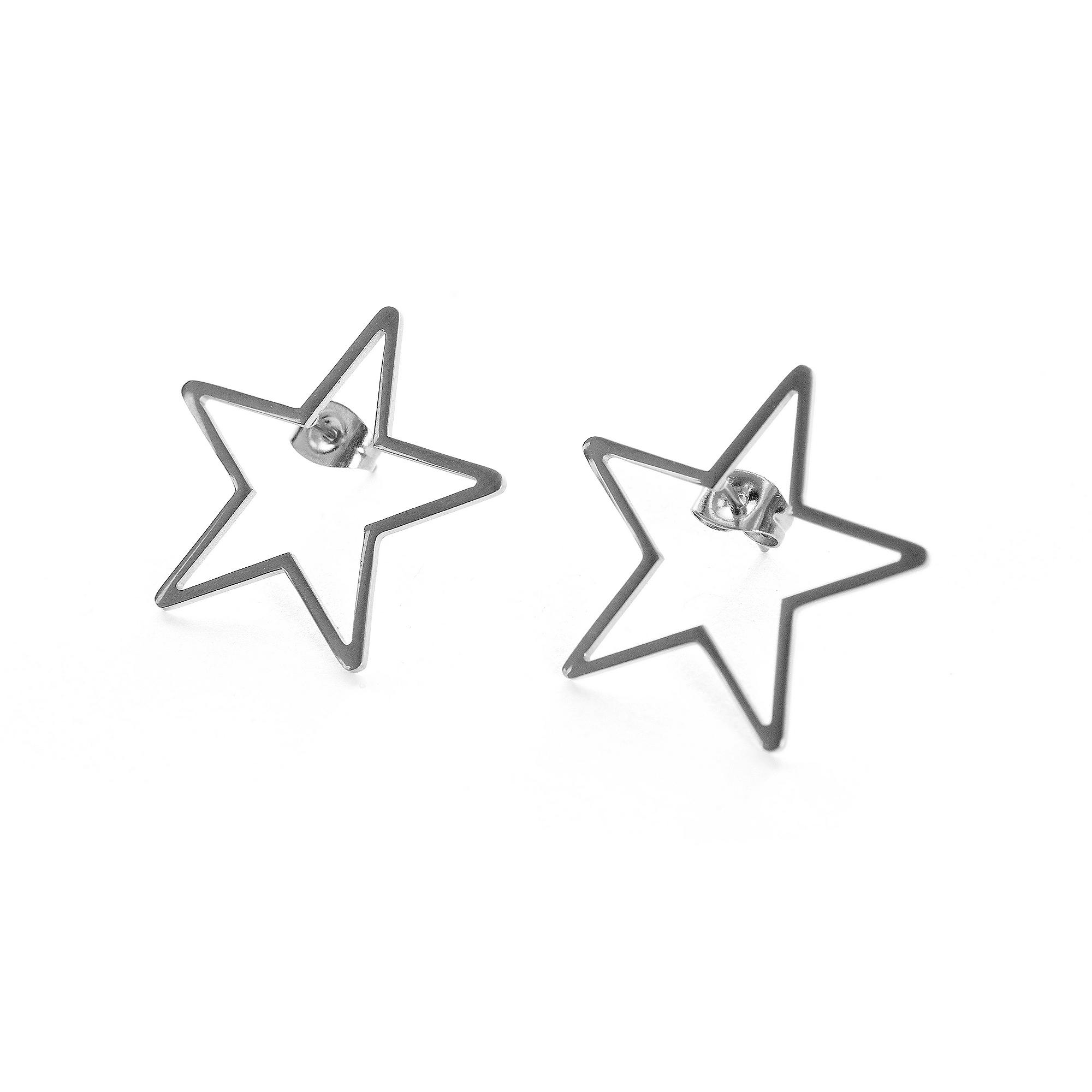Studio Marlyn Schiff Silver Star Stud Earrings