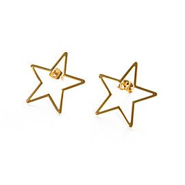 Studio Marlyn Schiff Gold Star Stud Earrings