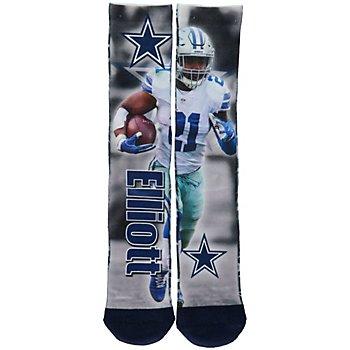 Dallas Cowboys Ezekiel Elliott Montage Socks