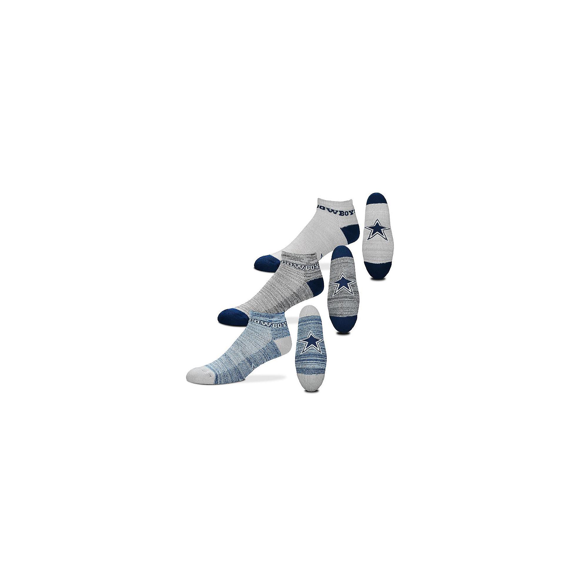 Dallas Cowboys 3-Pack Mens Socks