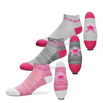 Dallas Cowboys 3-Pack Womens Socks