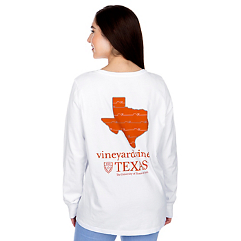 Texas Longhorns Womens Vineyard Vines State Long Sleeve T-Shirt