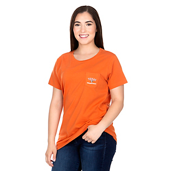 Texas Longhorns Vineyard Vines Womens Circle Text Short Sleeve T-Shirt