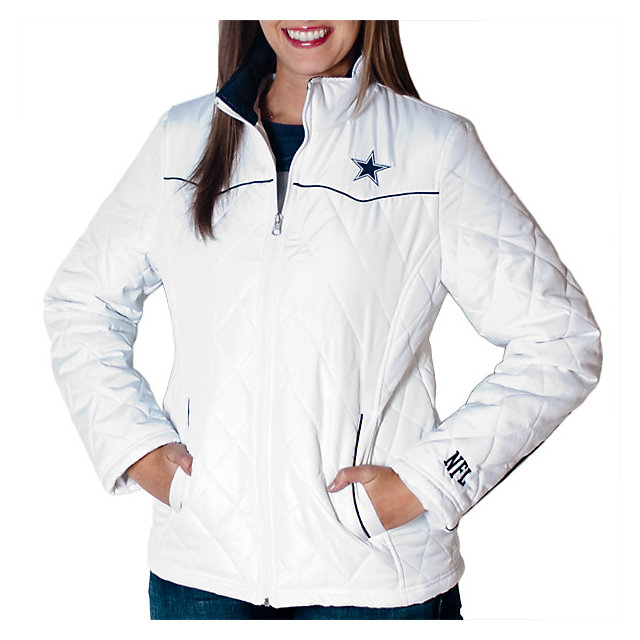 Dallas Cowboys Womens Diamond Quilted Jacket Womens 20 Womens