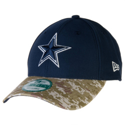 Dallas Cowboys New Era Salute To Service Camo 9Forty Cap  8a8b9e3a22b