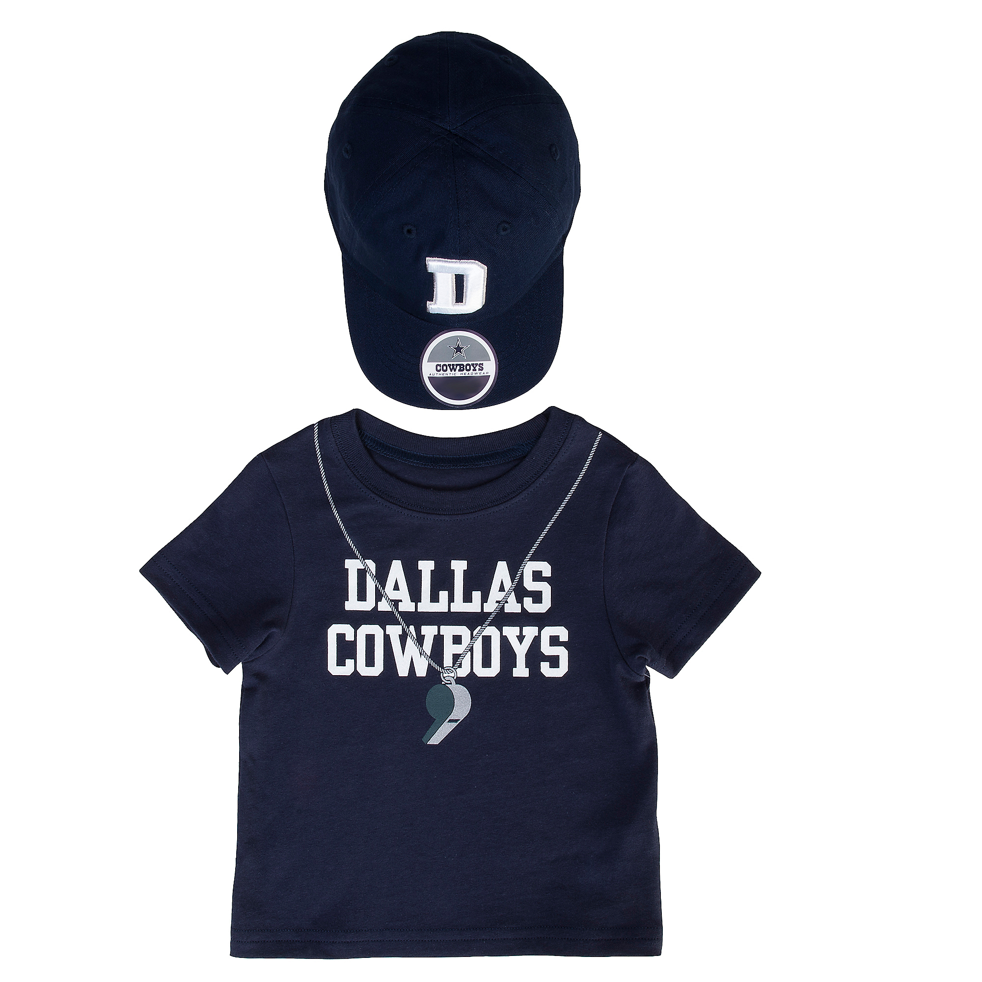 Dallas Cowboys Infant Lil' Coach Tee and Hat