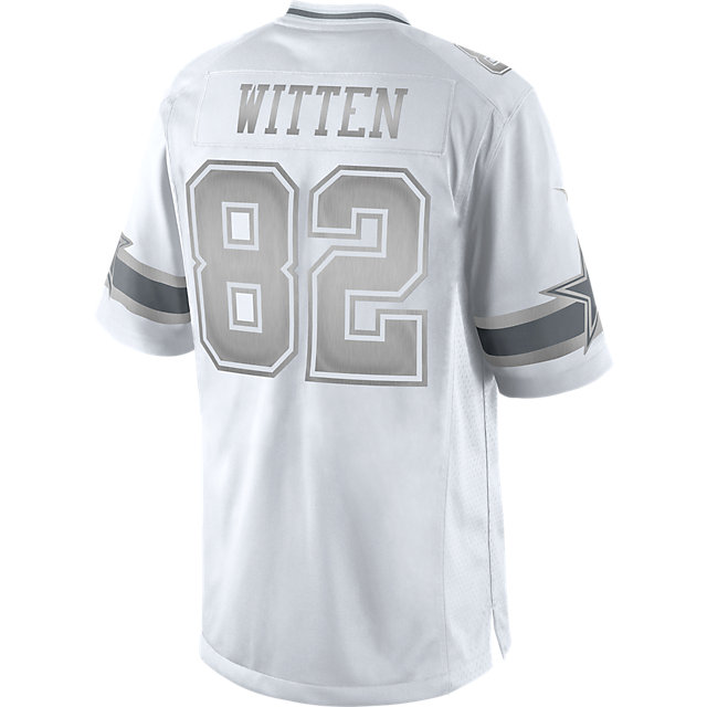 And White Silver Jersey Cowboys