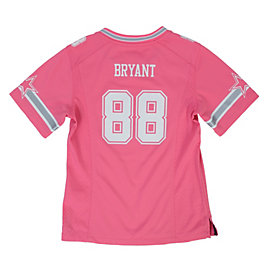 Dallas Cowboys Girls Dez Bryant #88 Pink Game Replica Jersey