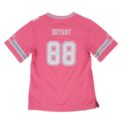 Dallas Cowboys Girls Dez Bryant #88 Pink Game Replica Jersey ...