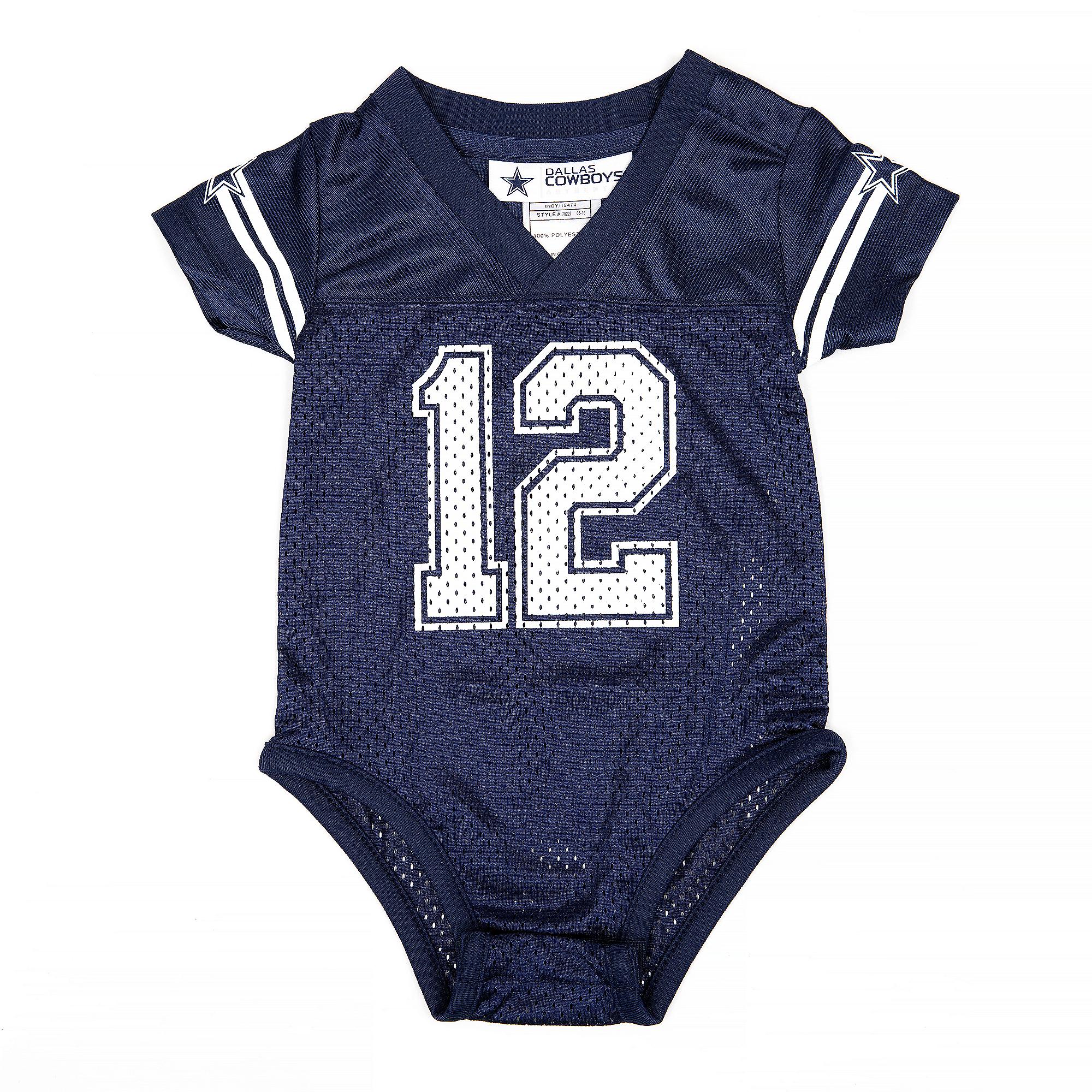 Dallas Cowboys Infant  12 Jersey Onesie  db2c4f570