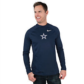 Dallas Cowboys Nike Hyperwarm Long Sleeve Fitted Max Tee
