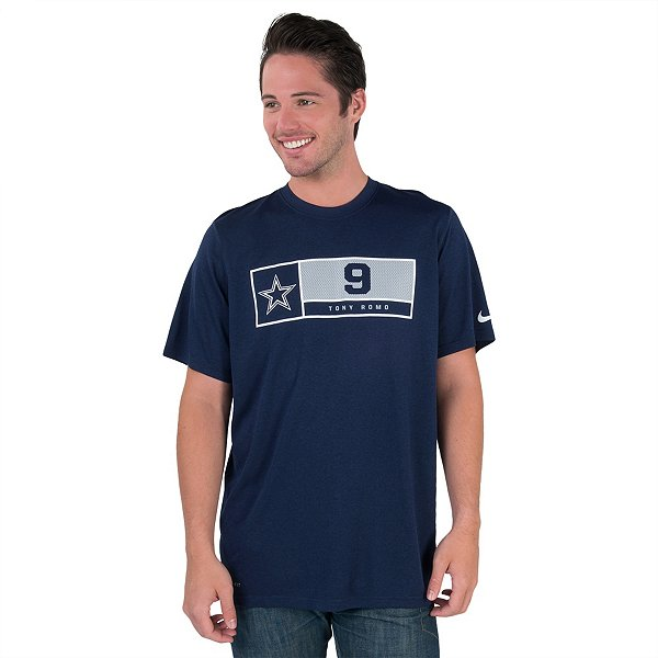 Dallas Cowboys Nike Legend Tony Romo #9 Name and Number Tee
