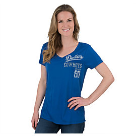 Dallas Cowboys Womens Burnet V-Neck Tee