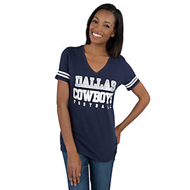 Dallas Cowboys Womens Glitter Practice Short Sleeve Tee