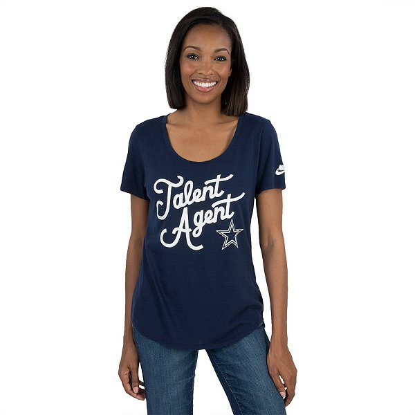 Dallas Cowboys Womens Nike Tri-Blend Talent Agent Tee