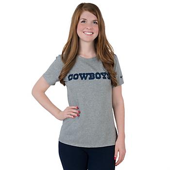 Dallas Cowboys Nike Womens Wordmark Cotton Crew