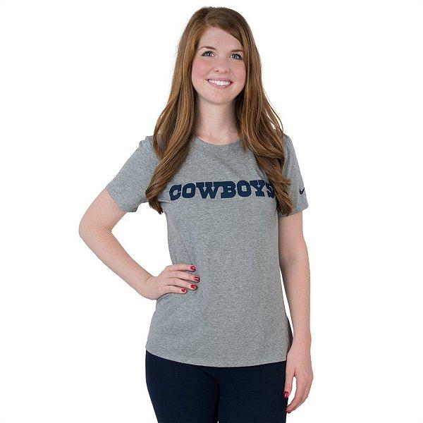 Dallas Cowboys Nike Womens Wordmark Cotton Crew T-Shirt