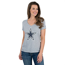 Dallas Cowboys Nike Womens Dri-Fit Logo Mid V-Neck Tee