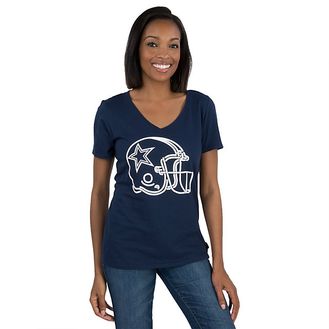 Dallas Cowboys Nike Womens Washed Helmet Tee