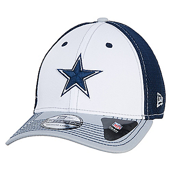 Dallas Cowboys New Era White Front Neo 39Thirty Cap