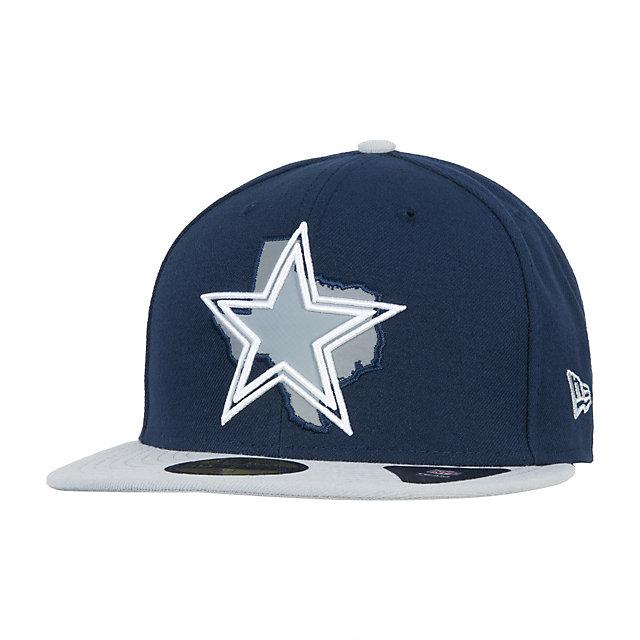 Dallas cowboys new era state flective redux 59fifty cap for Dallas cowboys fishing hat