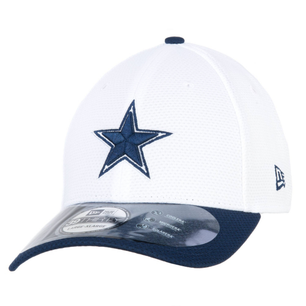 Dallas Cowboys New Era Training White 39Thirty Cap - Size L/XL