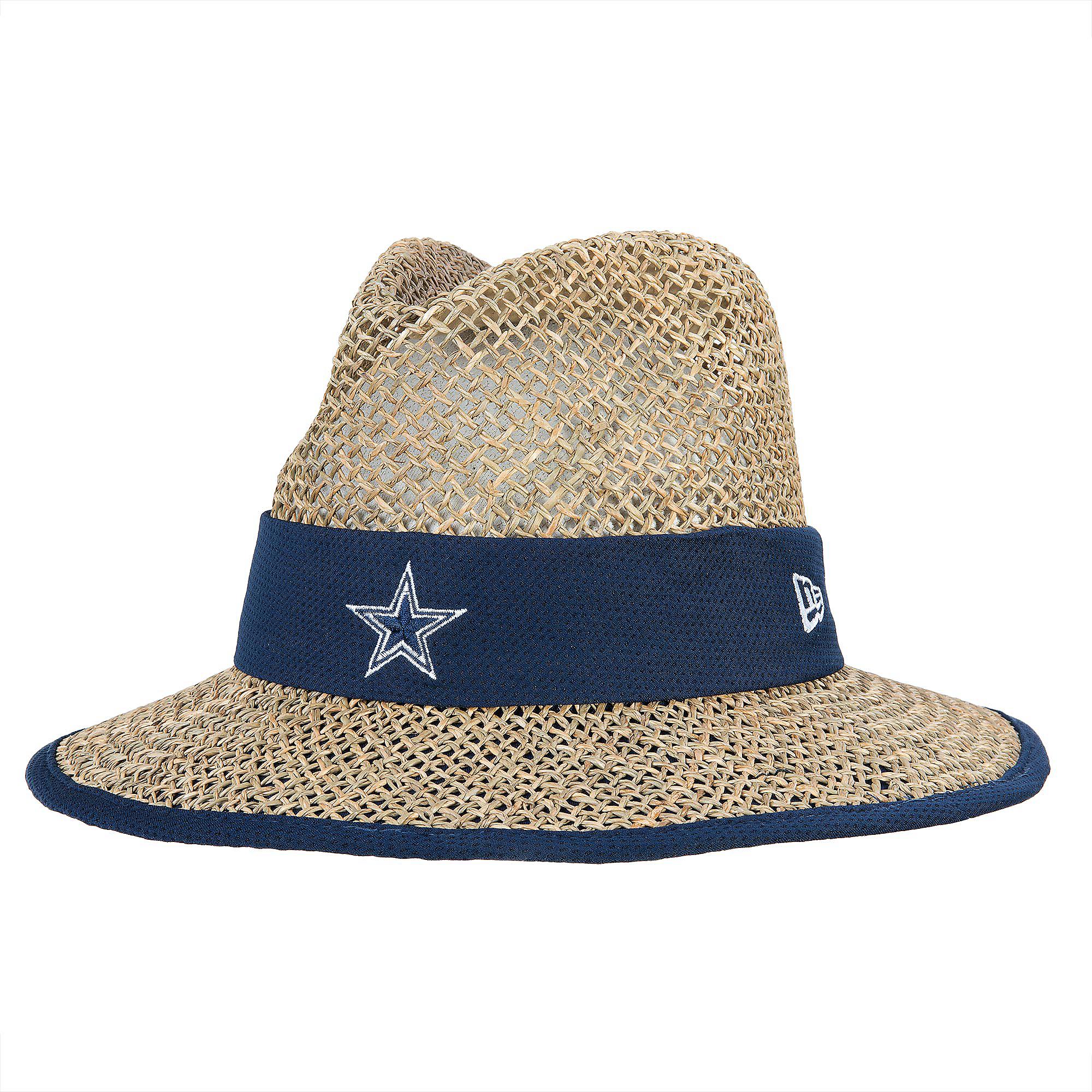 30d99080dfcb90 Dallas Cowboys New Era Training Straw Hat | Dallas Cowboys Pro Shop