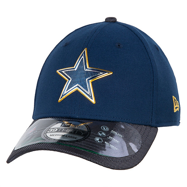 Dallas cowboys new era gold collection on field 39thirty for Dallas cowboys fishing hat