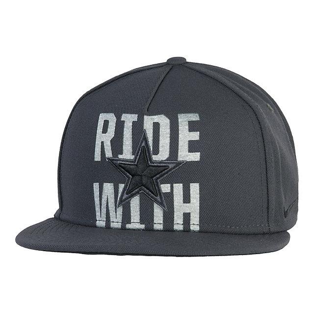 Dallas Cowboys Nike Gridiron Grey True Snapback Cap