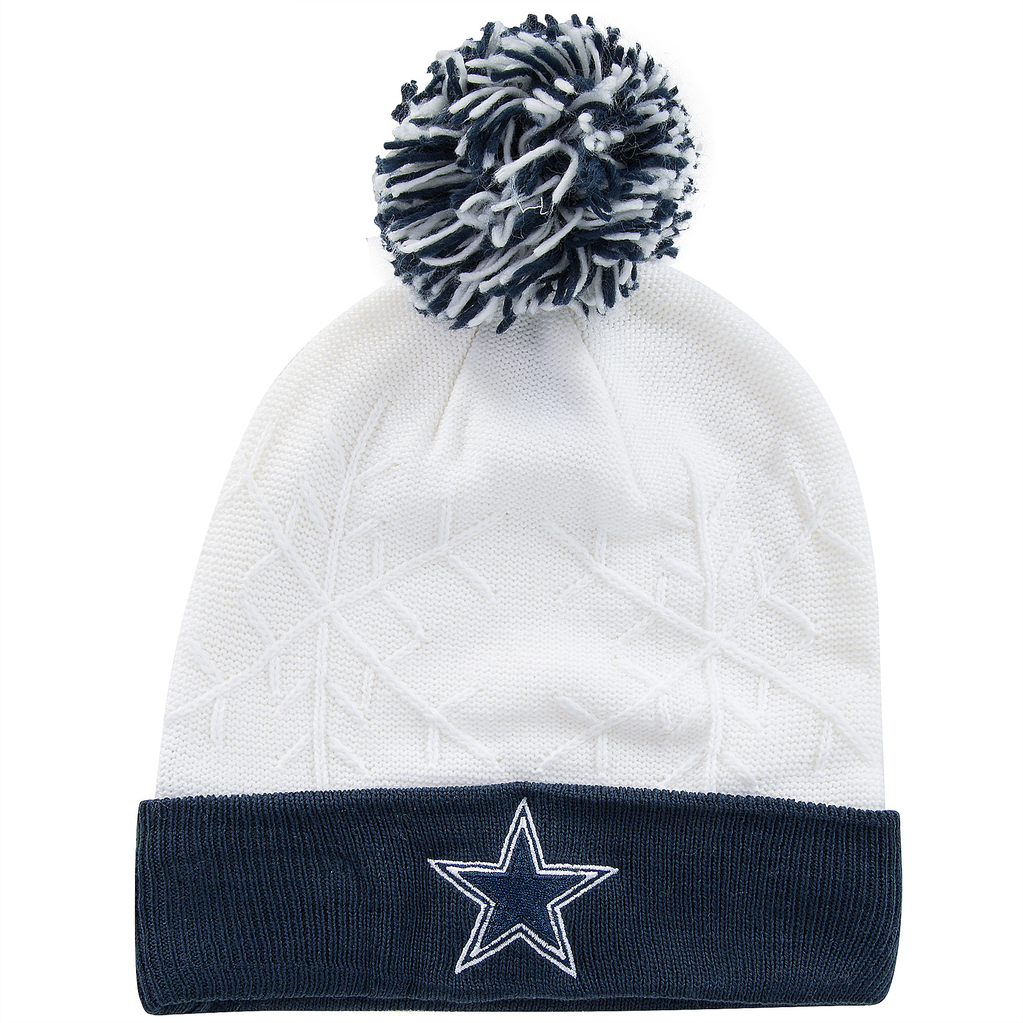 27322b3e order dallas cowboys white knit hat cbaaf ab260