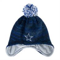 Dallas Cowboys New Era Youth Pom Bundle Knit Hat