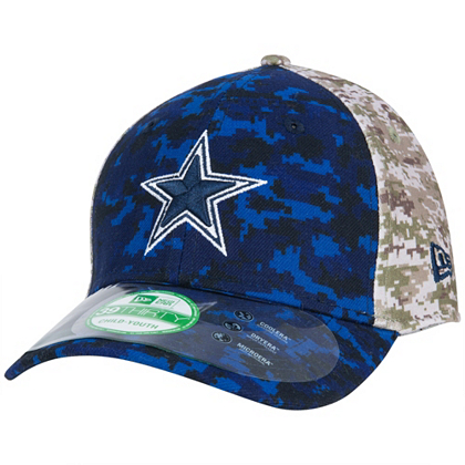 new arrival 032cb 98475 Dallas Cowboys New Era Jr Salute to Service 39Thirty Cap Hats Kids Cowboys  Catalog Dallas Cowboys