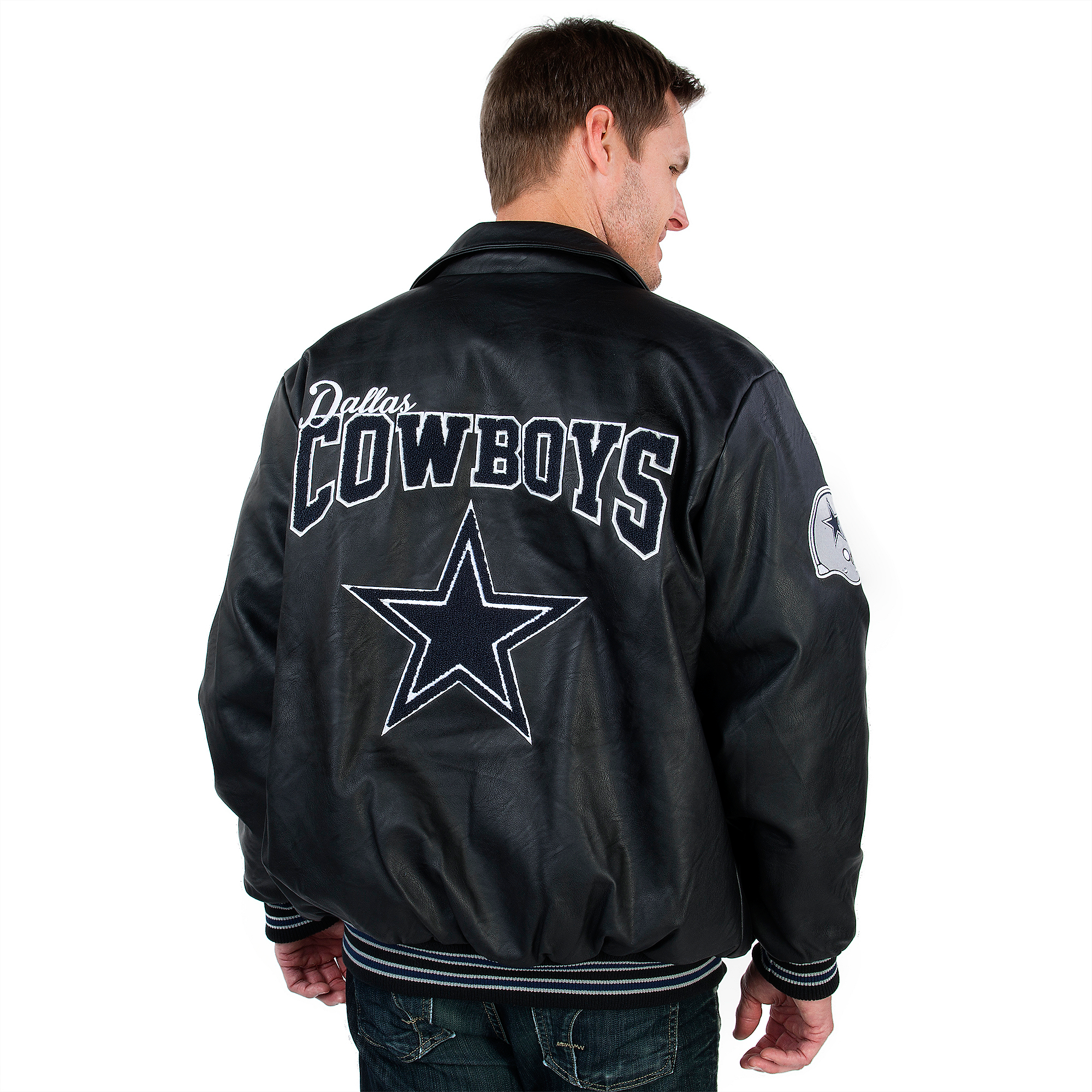 66b863249 Dallas Cowboys PU Varsity Jacket ...