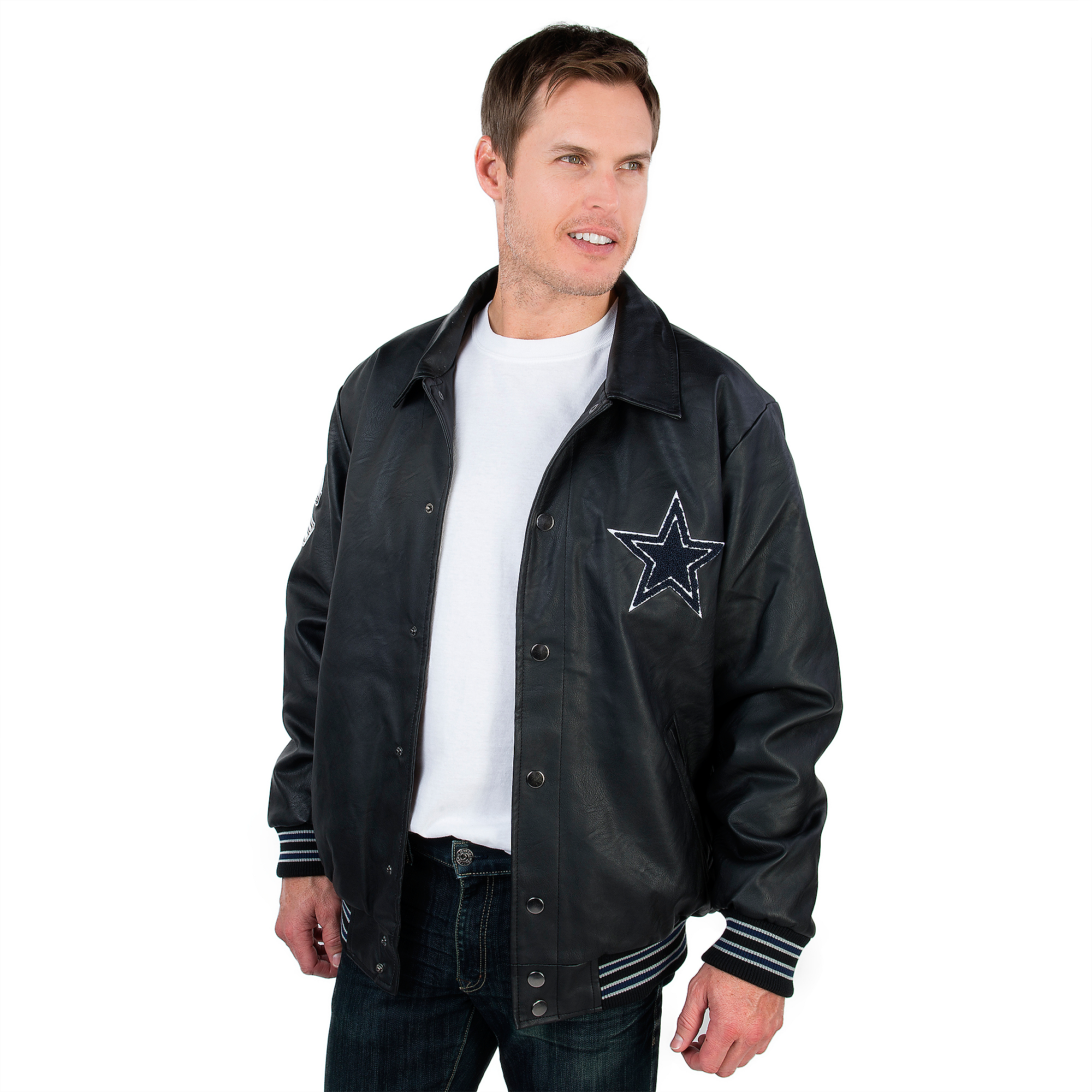 new concept 5d4ed fc5bb Dallas Cowboys PU Varsity Jacket | Dallas Cowboys Pro Shop