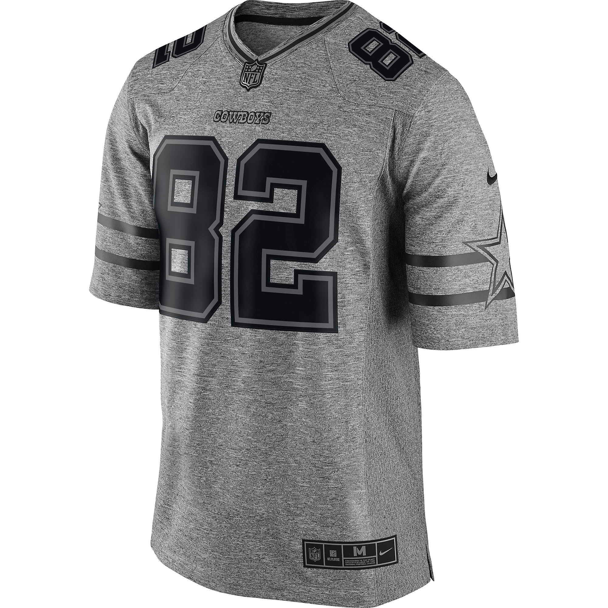 huge discount 01f84 89ad3 Dallas Cowboys Jason Witten #82 Nike Gridiron Grey Jersey ...