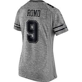 Dallas Cowboys Womens Tony Romo #9 Nike Gridiron Grey Jersey