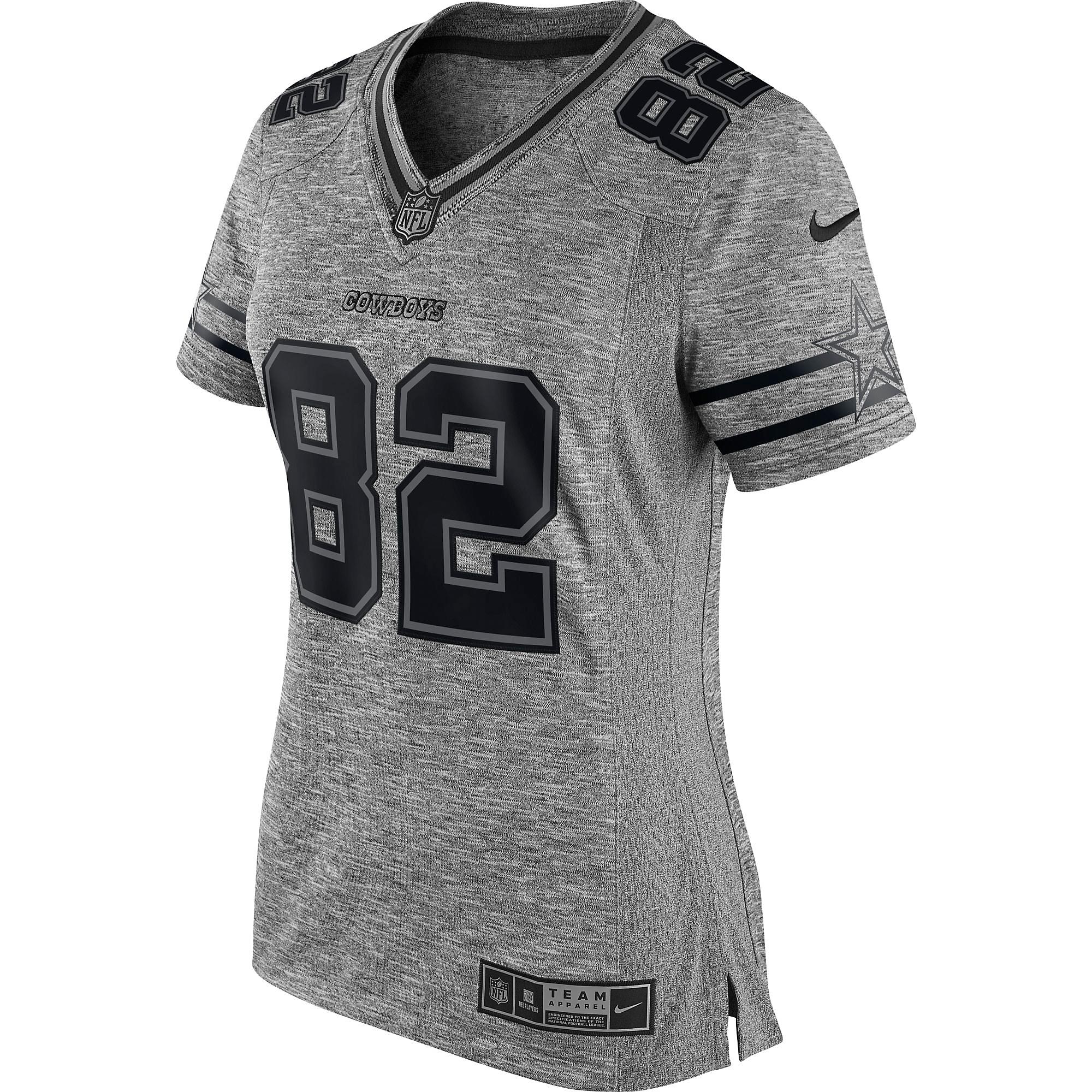 promo code 2dd2b fa06b Dallas Cowboys Womens Jason Witten #82 Nike Gridiron Grey ...
