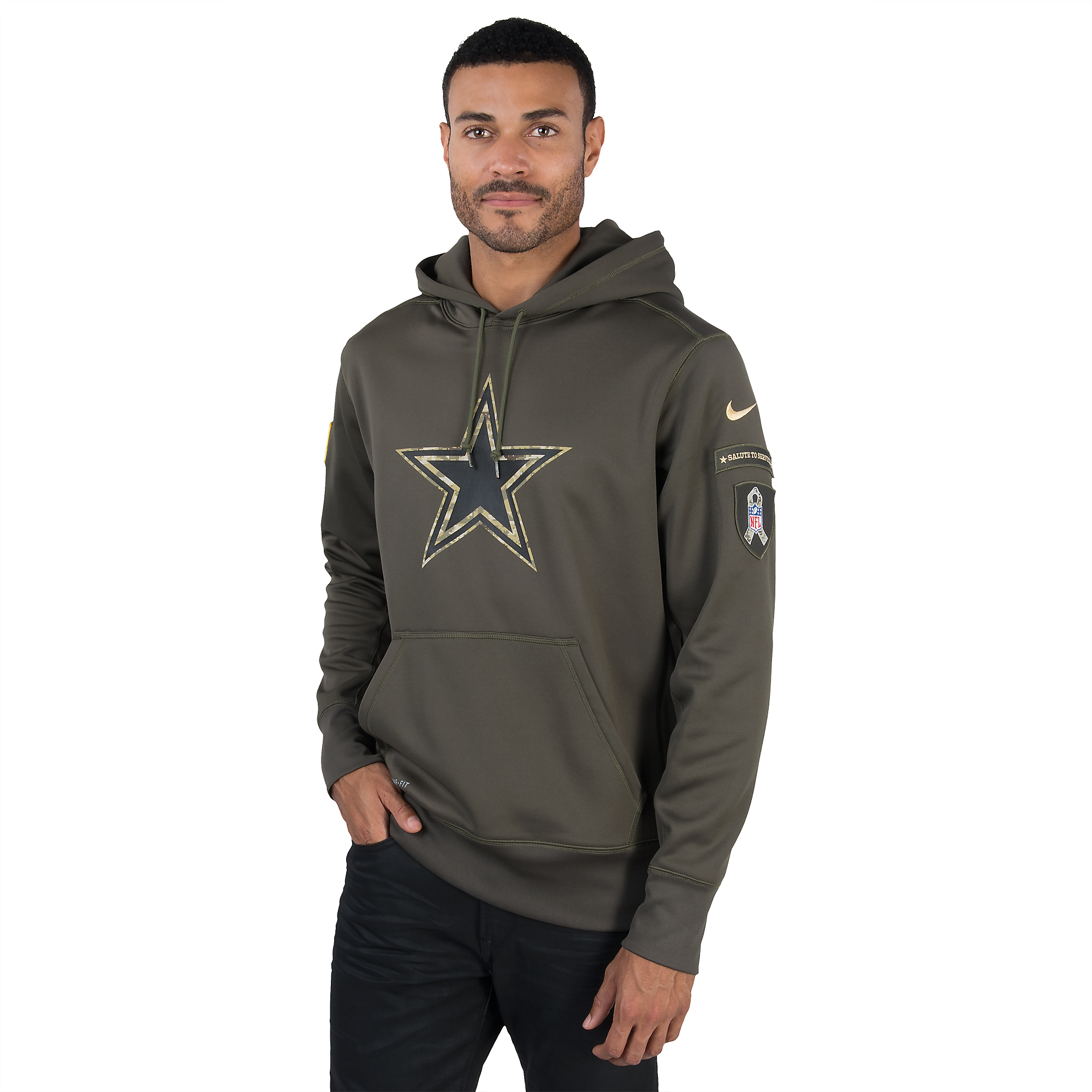 best service 13caf 69191 Dallas Cowboys Nike Salute to Service KO Hoody