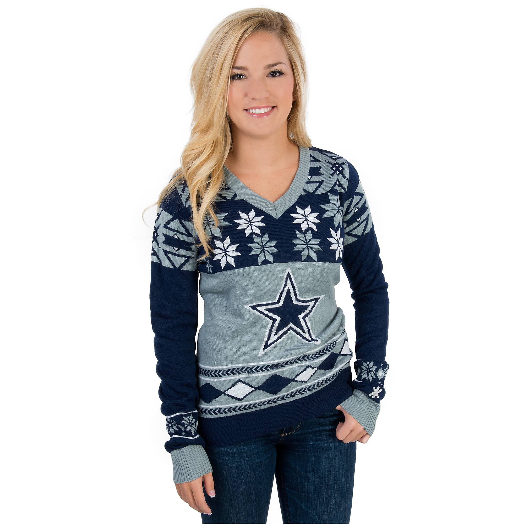 uk availability 87dd7 a7361 Dallas Cowboys Womens Ugly Sweater