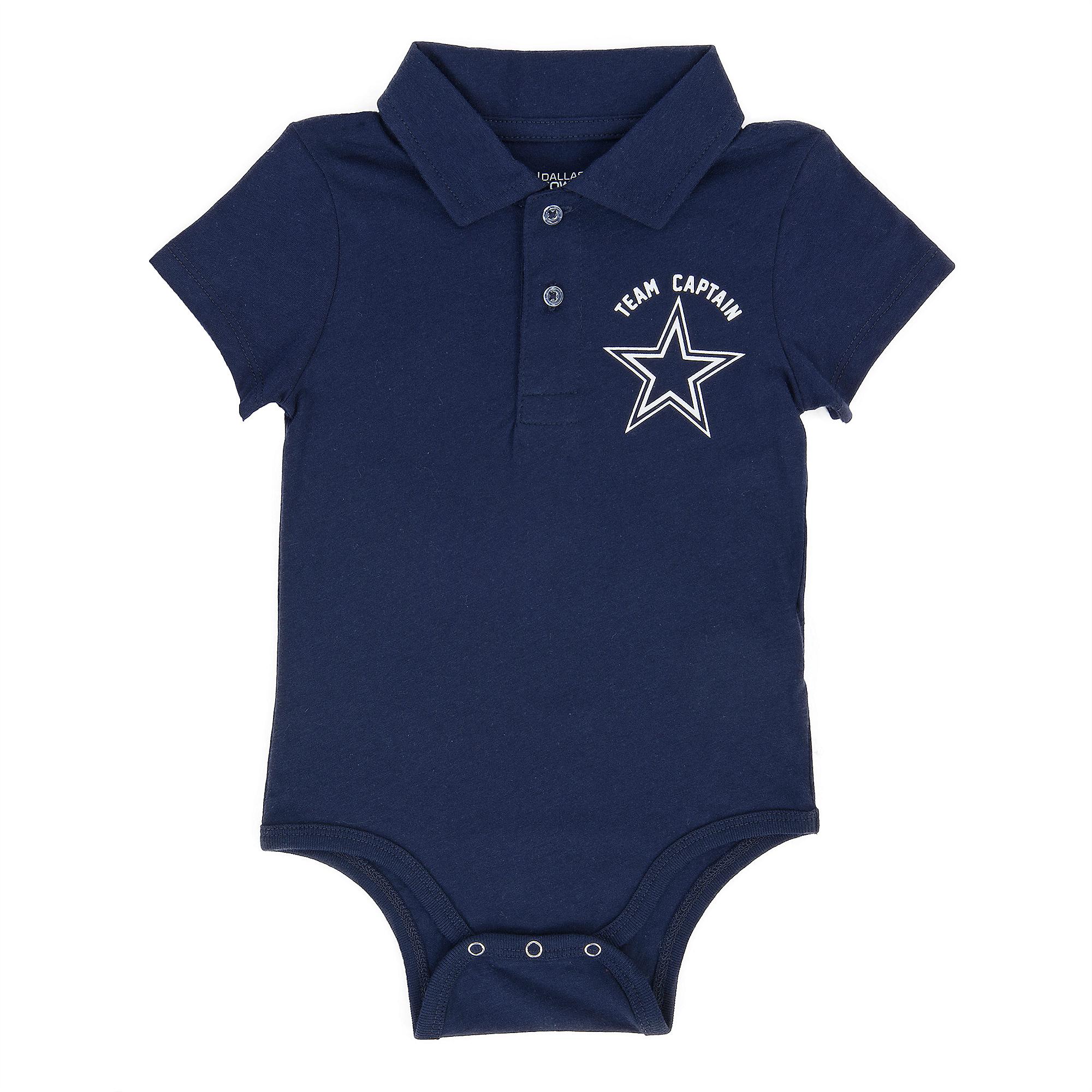 Dallas Cowboys Infant Collins Polo Bodysuit