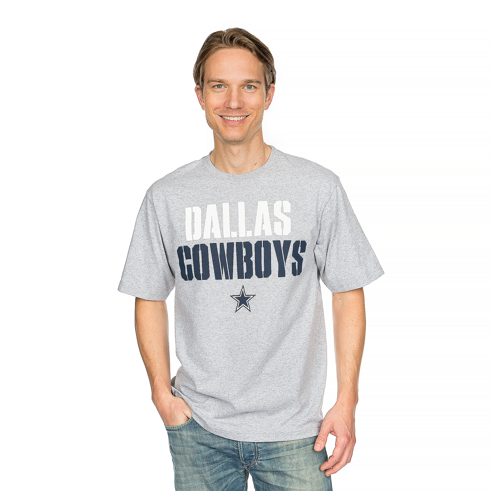 Dallas Cowboys Stencil Stack Tee