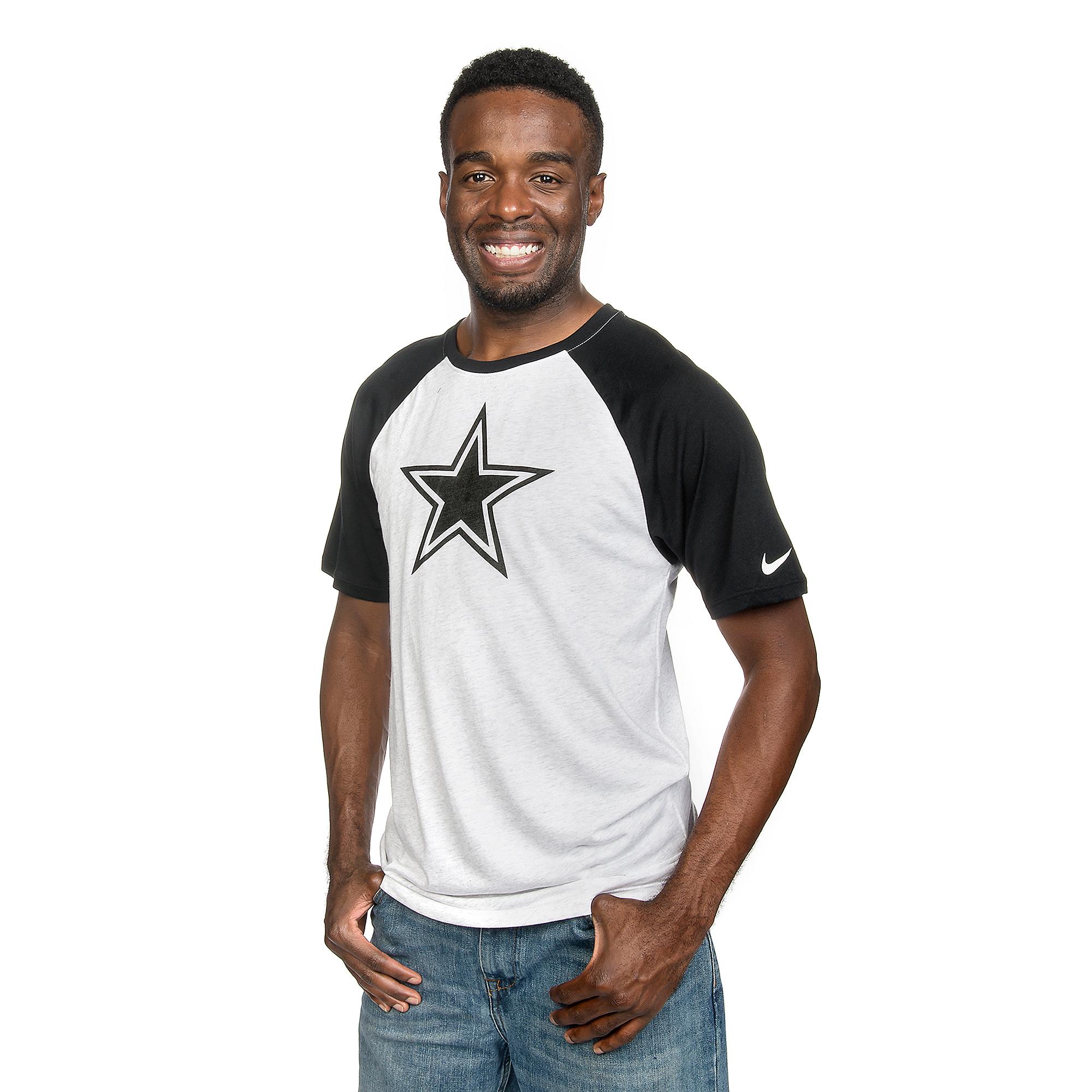 Dallas Cowboys Nike Gridiron Grey Triblend Raglan Tee