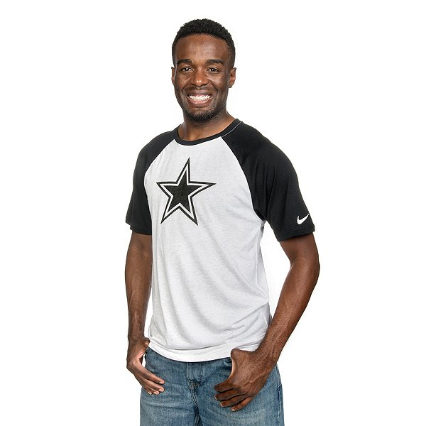 Dallas Cowboys Nike Gridiron Grey Triblend Raglan T-Shirt