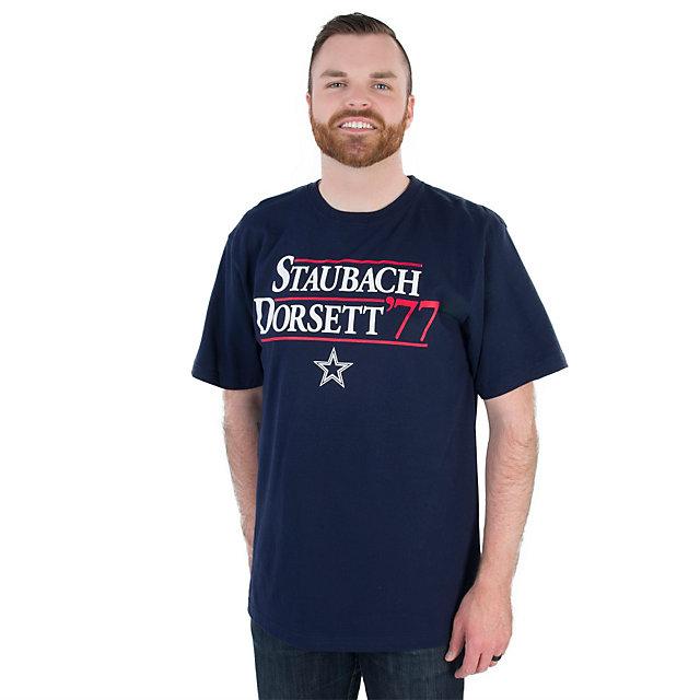 Dallas Cowboys Staubach/Dorsett 77 Campaign Tee