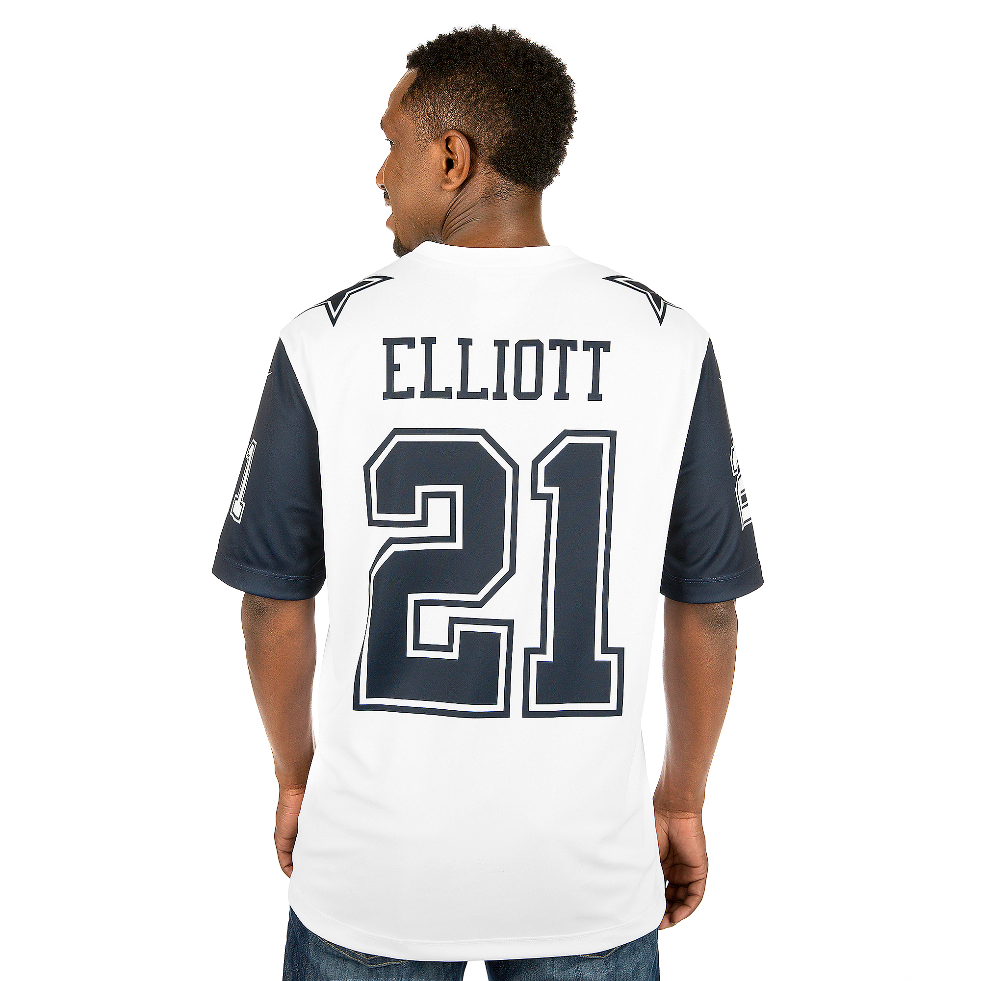 the latest 67552 0c996 Dallas Cowboys Ezekiel Elliott #21 Nike XC2 Color Rush Tee ...