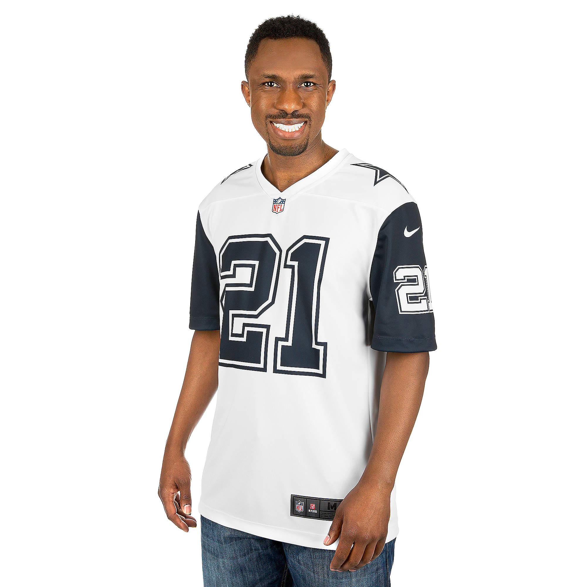 the latest 8d273 7e7fe Dallas Cowboys Ezekiel Elliott #21 Nike XC2 Color Rush Tee ...