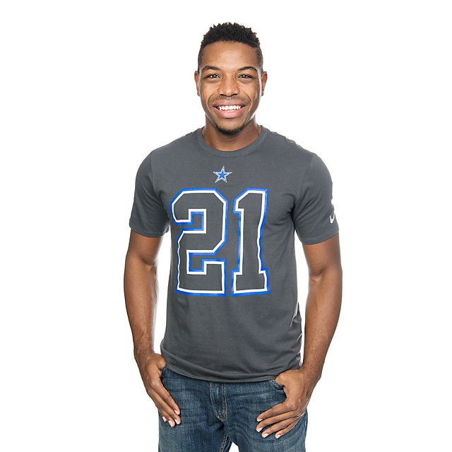 Dallas Cowboys Nike Ezekiel Elliott #21 Travel Name and Number Tee