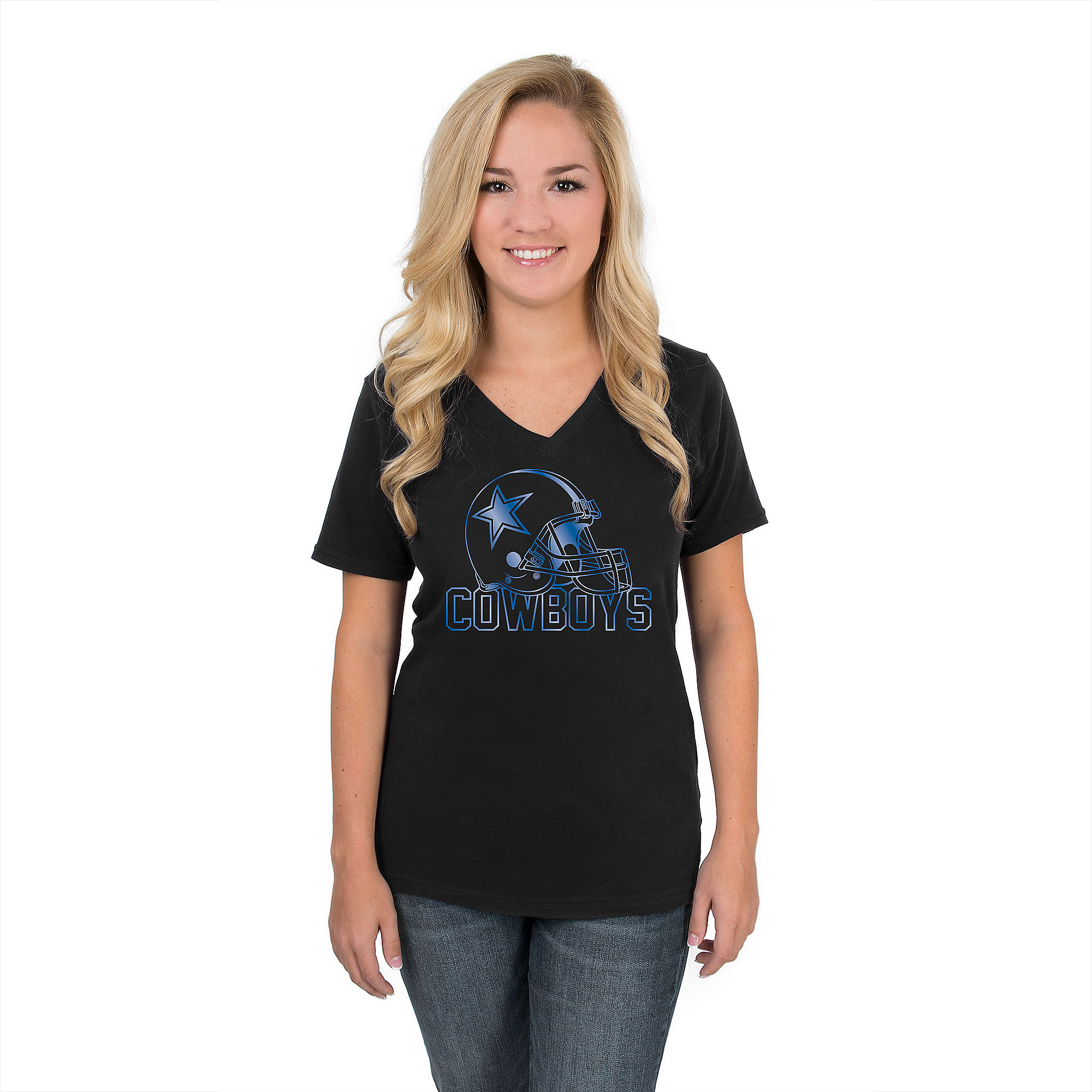 Dallas Cowboys Womens Shine Tee