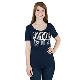 Dallas Cowboys Nike Just Do It Scoop Tee