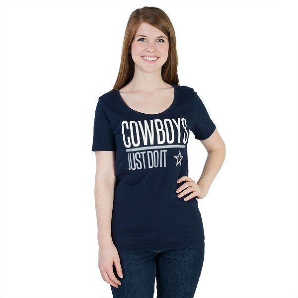 Dallas Cowboys Nike Just Do It Scoop Tee